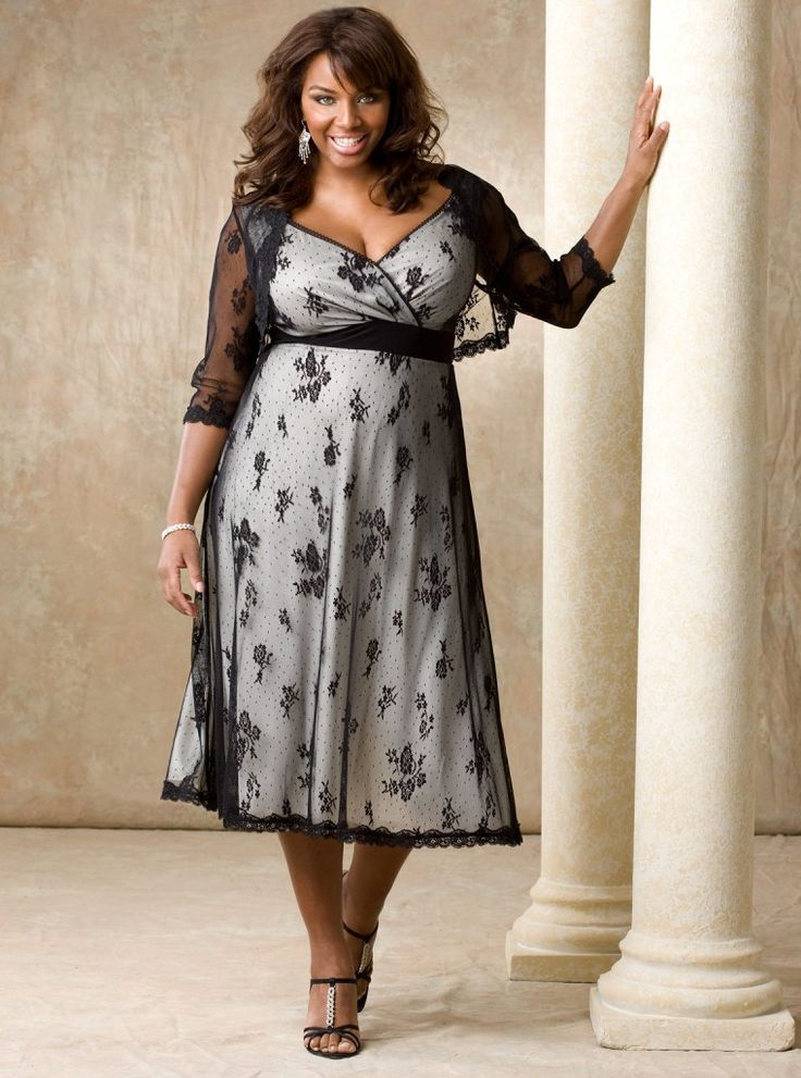 Elegant dresses for plus size women