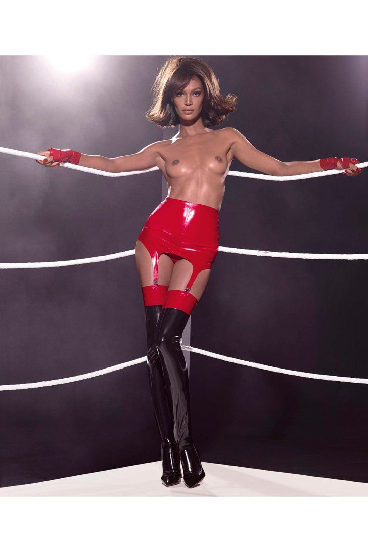Pin for Later: The NSFW 2015 Pirelli Calendar Will Fog Up Your Screen Miss March Joan Smalls