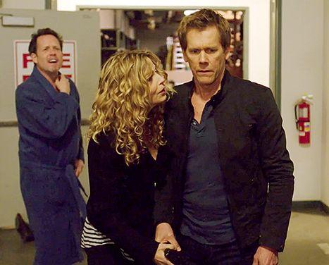 Kevin Bacon Hunted by Joe Carroll, Kyra Sedgwick: The Following Spoof - Us Weekly