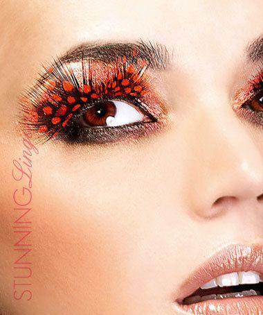 Baci Lingerie Dark Red Feather Eyelashes