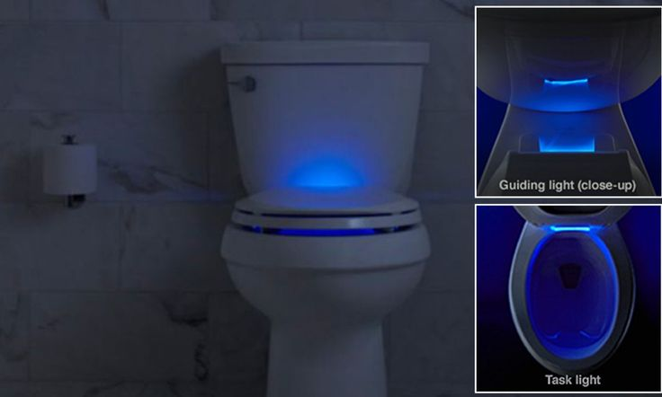 The glow in the dark toilet seat with a built in nightlight