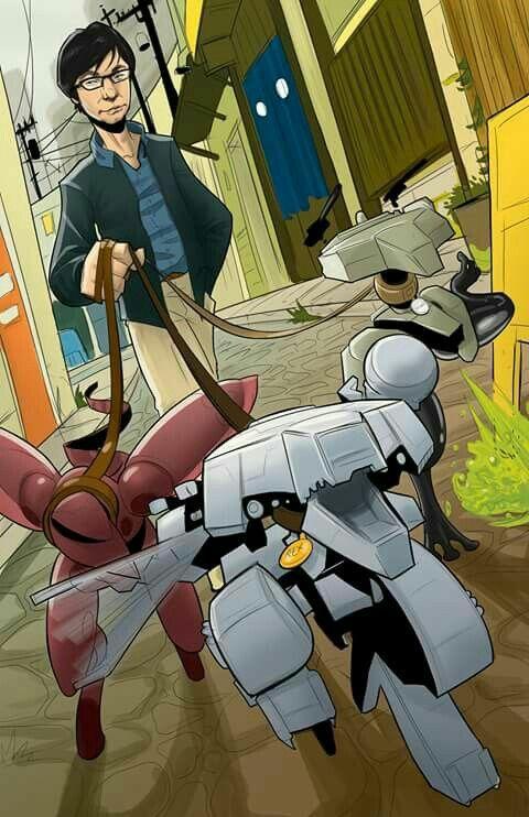 Kojima casually walking his...Metal Gears