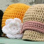 crochet baby hat patterns (free).