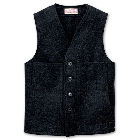 Awesome, warm and rugged. A perfect #vest for men who hate sweaters in the wintertime but want more than a shirt to keep warm. Filson vest $115