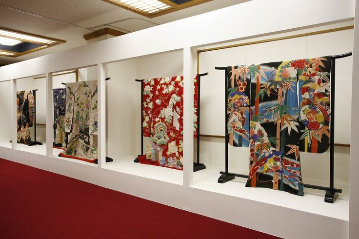 "Antique kimono exhibition room at the ""Japan Kimono Culture Museum"" in Koriyama, Fukishima Prefecture, Japan."