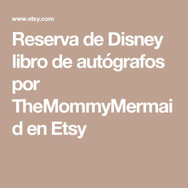 Reserva de Disney libro de autógrafos por TheMommyMermaid en Etsy