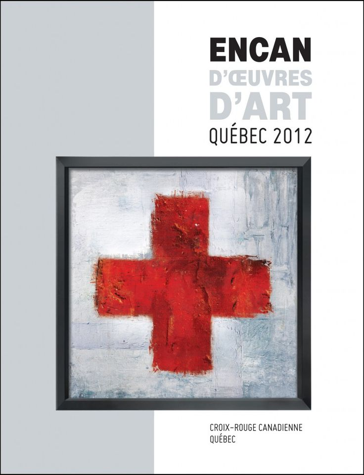 Visuel créé par Kilovolt créativité stratégique pour le 3ᵉ encan d'œuvres d'art de la Croix-Rouge canadienne, division Québec, Ville de Québec