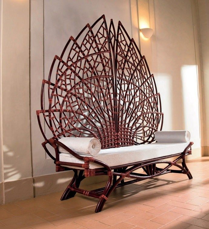 Ethuil Is A Bench Like No Other. With Its Intricate Network Of Curved  Rattan Joint