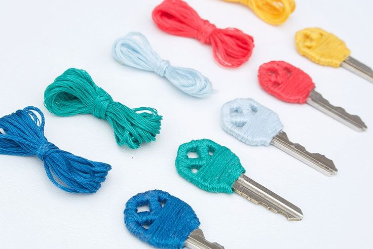 DIY yarn wrapped key covers