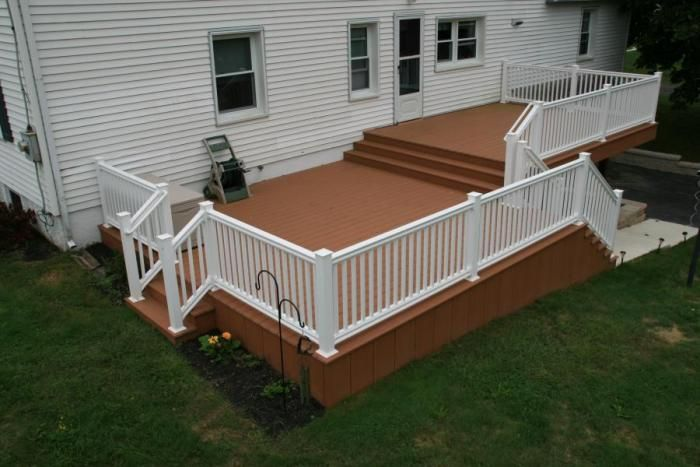 Split level deck decks pinterest decks bi level for House plans with decks