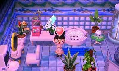 bathroom | Animal crossing, Happy home designer, New leaf