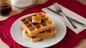 Waffles from Pancake mix