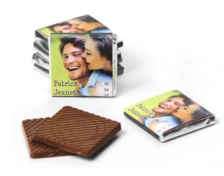 chocolaatjes met foto
