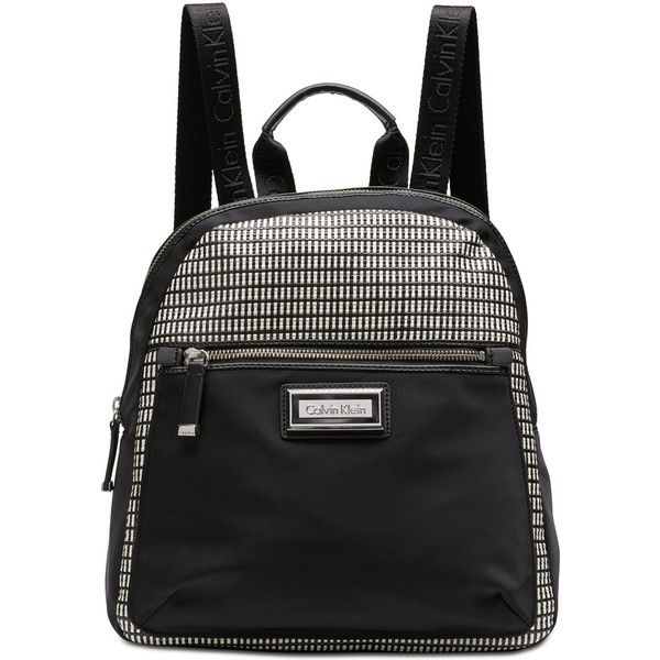 Calvin Klein Belfast Small Backpack (2.925 ARS) ❤ liked on Polyvore featuring bags, backpacks, off white black, calvin klein backpack, daypack bag, backpack bags, calvin klein and nylon backpacks