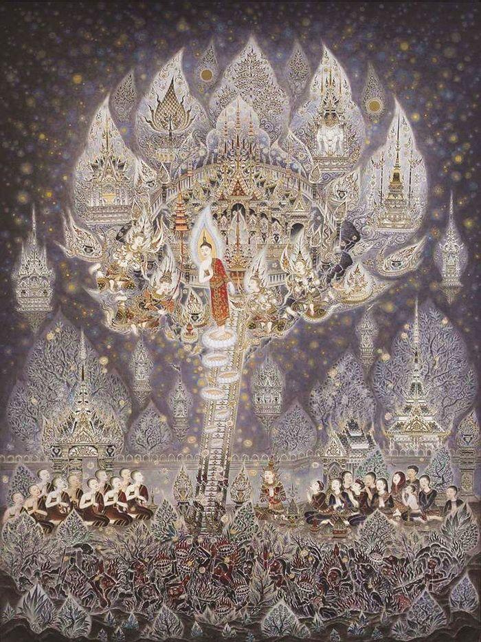 แสดงกระท เม องส งก สสะ สถานท ทรงเสด จลงมาจากสวรรค ช นดาวด งส ลานธรรมจ กร ในป 2021 ภาพวาดพระพ ทธเจ า พระพ ทธเจ า ศ ลปะไทย