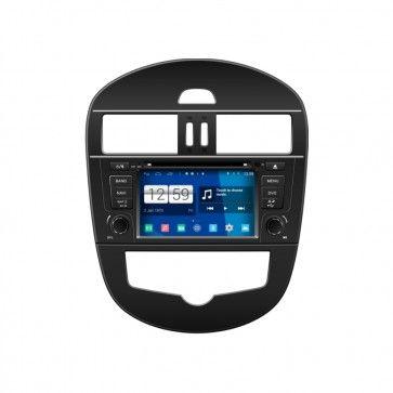 Autoradio GPS DVD NISSAN 2012 Tiida S160 Android 4.4.4 avec HD Ecran tactile Support Smartphone Bluetooth kit main libre Microphone RDS CD SD USB 3G Wifi TV MirrorLink