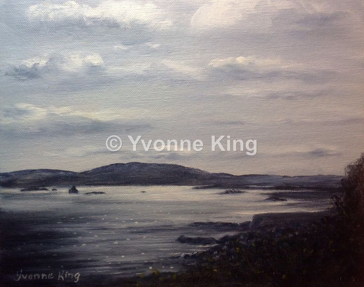 Irish Painting,Connemara,Landscape,Clifden,Galway,Beach Road,Yvonne King,Seascape,West of Ireland,Evening Light,Perfect Gift,Home Decor by YvonneKingArt on Etsy https://www.etsy.com/listing/252821064/irish