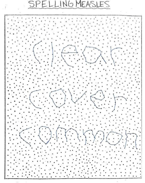 Connect the dots to spell out each spelling word for