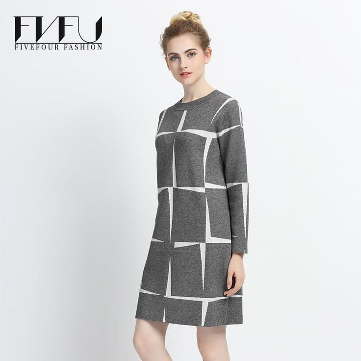 29,55 EUR, inkl. Versand: New Fashion Autumn Winter Dress Women 2017 Plus Size Vintage Dress Casual Knitting Plaid Loose Long Sleeve Elegant Sweater Dress-in Dresses from Women's Clothing & Accessories on Aliexpress.com | Alibaba Group