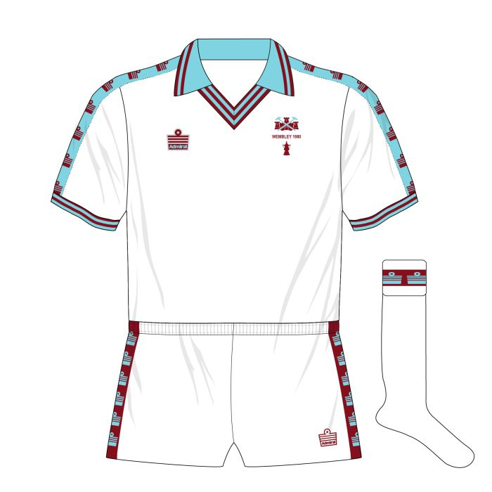 West Ham kit for the 1980 FA Cup Final.