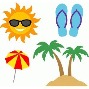Silhouette Design Store: summer beach set