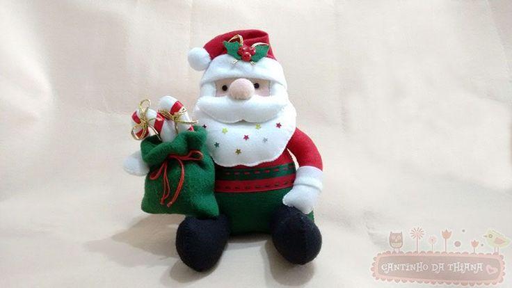 Papai Noel de Feltro Sentado