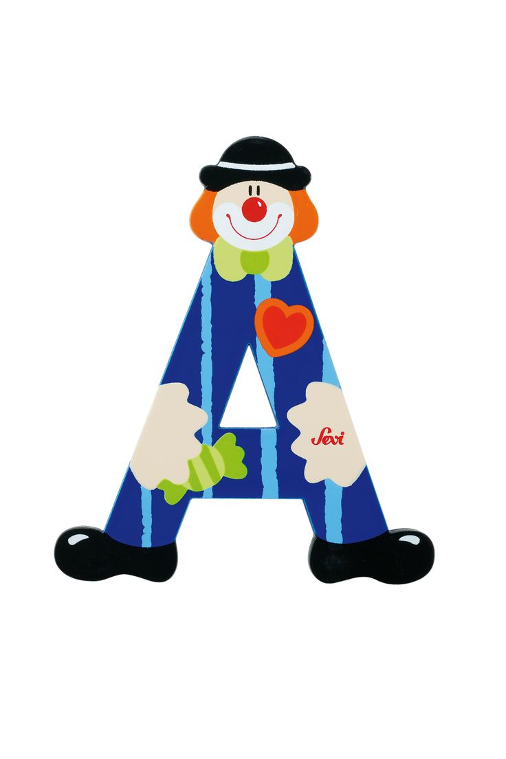 images of the letter a | Letter A Clown -