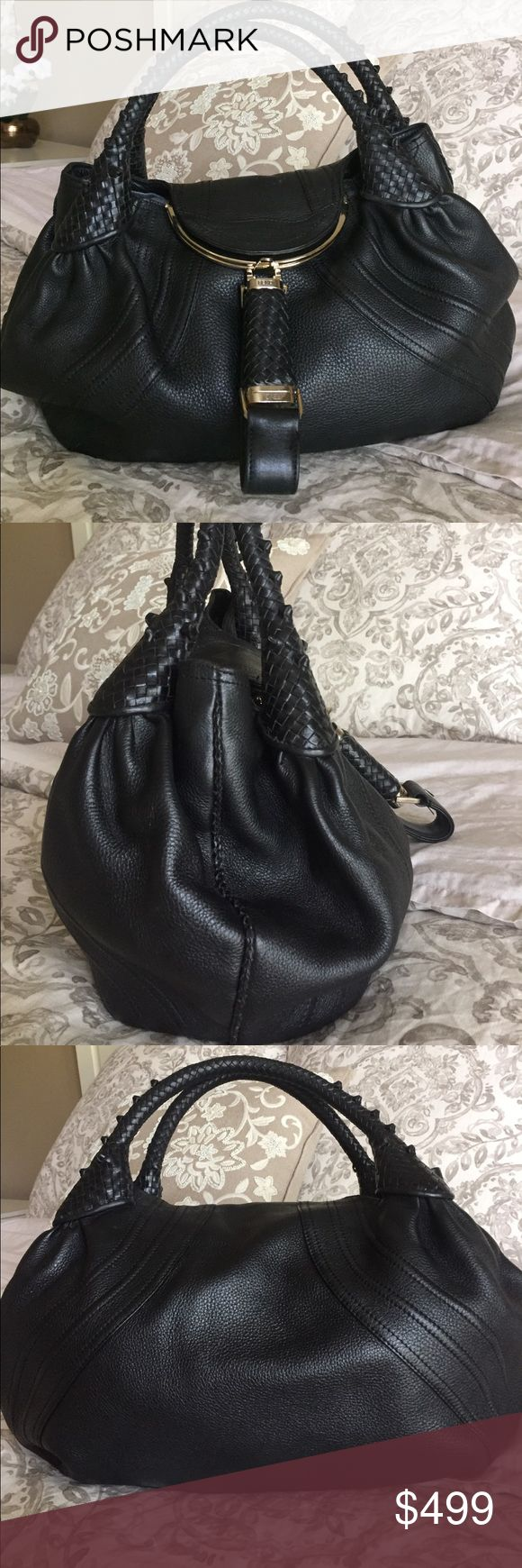 Fendi Spy Bag Pre-loved Fendi bag bought from the boutique store in Houston. Authentic. In exceptional condition except for a minor discoloration at the bottom of the lining. I loved this bag but recently switched my style to diaper bags, and it's your turn to love it now 😉. Fendi Bags Totes