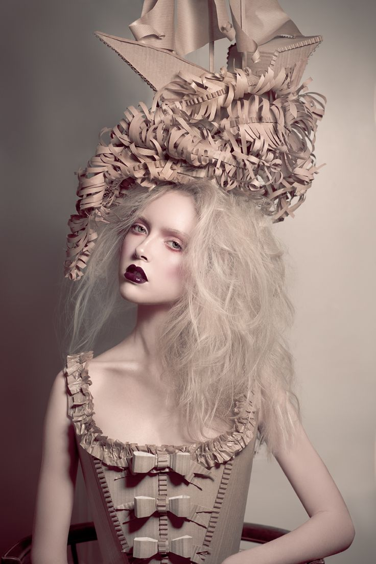 Phoenix Magazine May 2012 | Holly F | Catherine Harbour. Create a paper headdress for a pirate or nautical shoot.