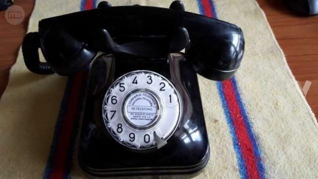 TELÉFONO ANTIGUO BAQUELITA NEGRO