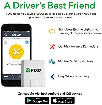 Amazon com: Fixd 1 OBD2 Professional Bluetooth Scan Tool