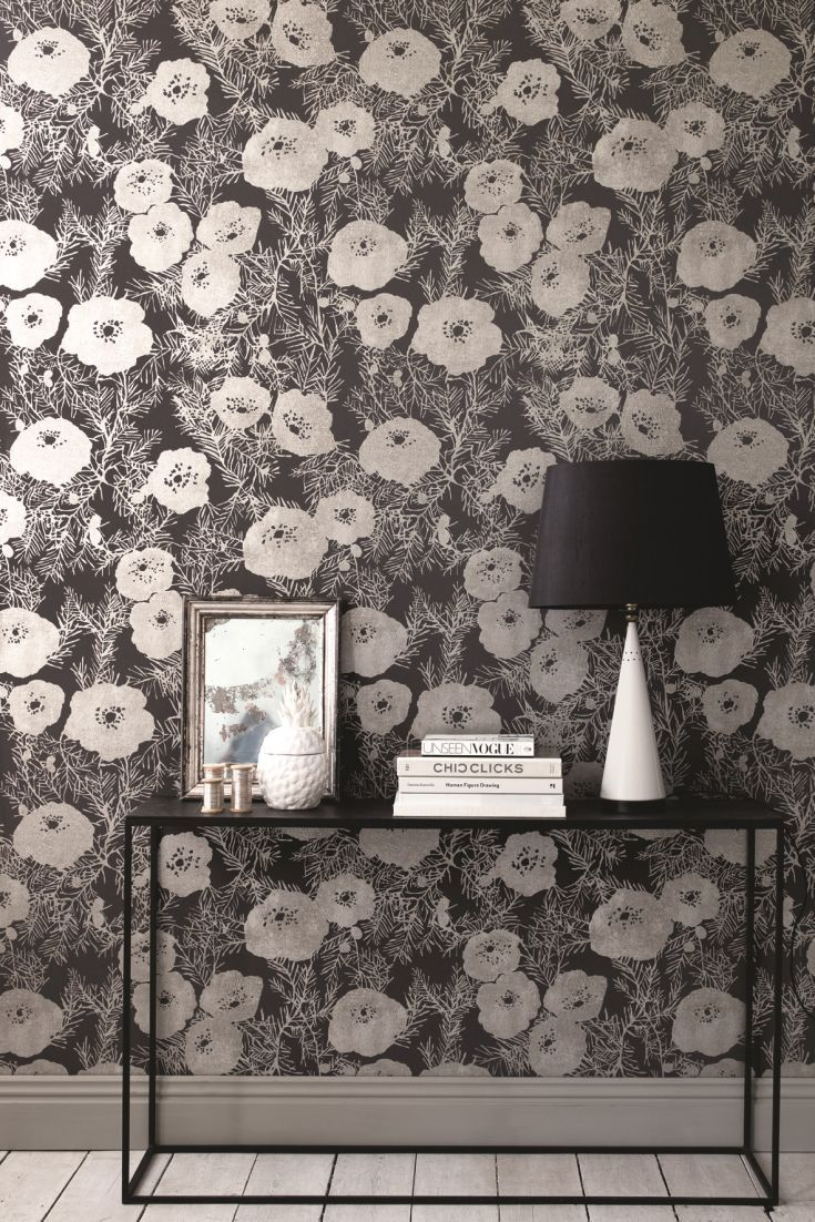 Metal garden wall art trellis black 163 29 99 this wall art is the - The Gorgeous New Romo Lomasi Wallpaper Collection Has Some Lovely Floral Designs