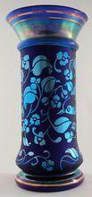 Fenton Favrene Cobalt Blue Don Fenton Memorial Vase