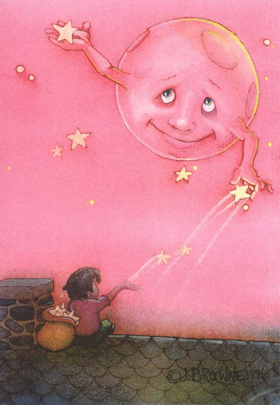 Catch with the Moon 5x7 Print by brownieman on Etsy, $4.50
