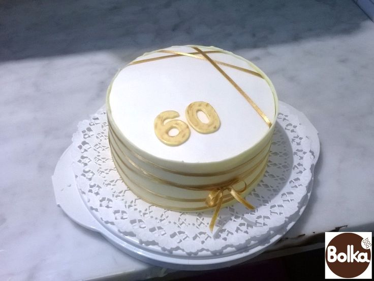Decorated cake/dísztorta (60th birthday)