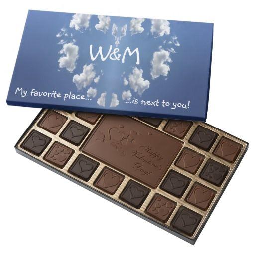Monogram Valentine's Day Cloud Heart Assorted Chocolates