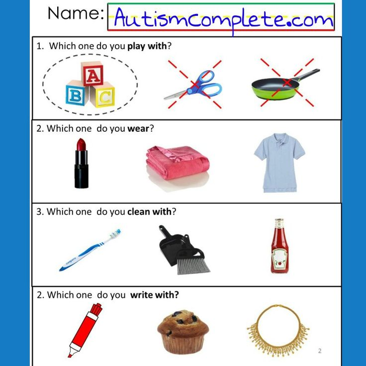 14 Best Autism Worksheets Receptive Language Images On