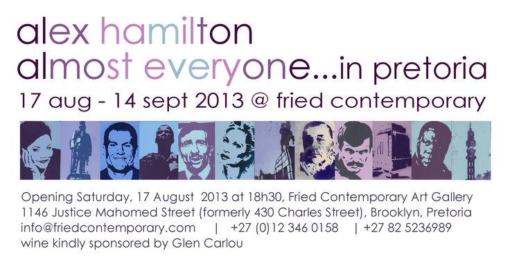 Invite - Alex Hamilton Exhibition, August 2013