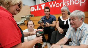 Bunnings Local Community Support : Sausage Sizzles, Cake Stalls, DIY Workshops, Hands-on Help, and Contributions