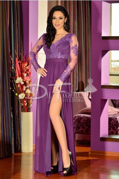 coduri promoționale ieftin vânzare rochie lunga mov - rochii de seara lungi | Rochii elegante, Rochii ...