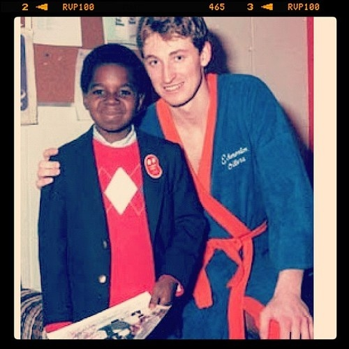 Wayne Gretzky and Gary Coleman
