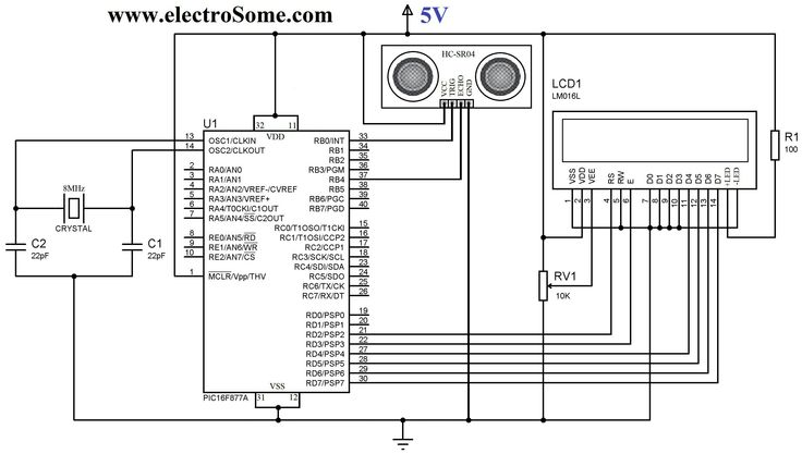 Interfacing HC-SR04 Ultrasonic Distance Sensor with PIC
