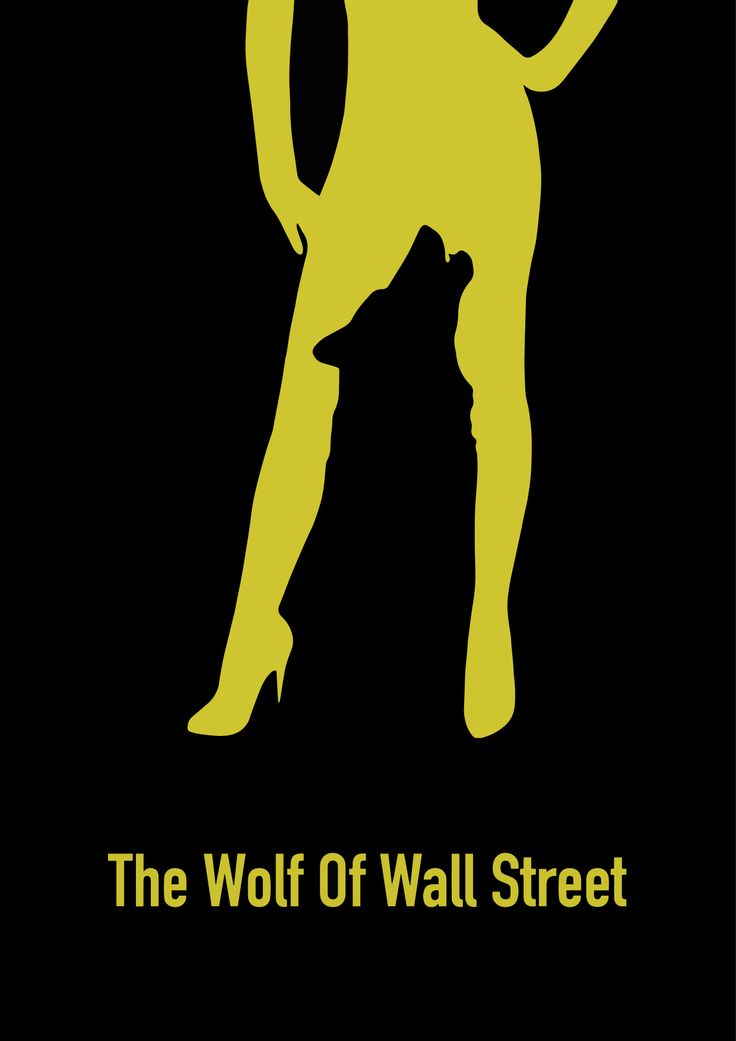 The Wolf of Wall Street Minimalism style poster by Víctor García Pastor.