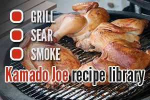 Looking for great grilling ideas, here's the Kamado Joe Recipe Library.
