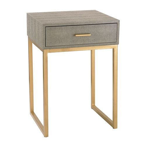 $158.00 - sale price - Grey Shagreen Side Table Sterling Industries Stools Stools Accent Furniture