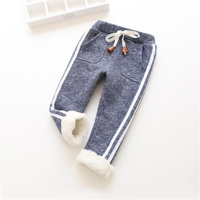 9e98d0d2a6607 kids winter warm pants baby boy girl newborn trousers Children legging