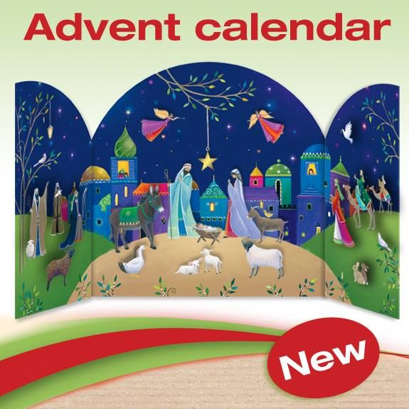 ADV32 Bethlehem - New this year from www.rebecca-cards.com Phoenix have got some fabulous advent calendars this year. This one is £7.50 and is 3D.