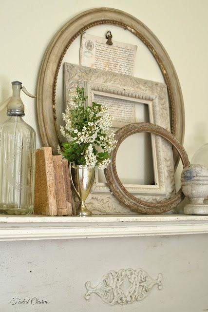 ~~~~Love the way Kathleen had done her mantel in her bedroom.  Absolutely gorgeous!~~~