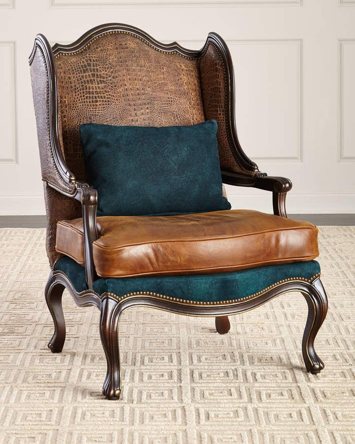 Remarkable Massoud Aries Leather Wing Chair Please Have A Seat In Dailytribune Chair Design For Home Dailytribuneorg