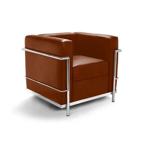 Le Corbusier LC2 Sessel Mit Braunem Leder